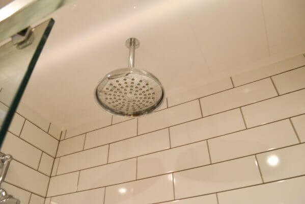installed shower head