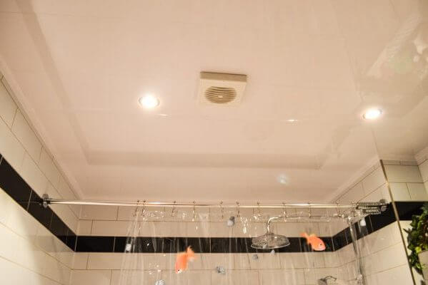 ceiling cladding and extractor fan